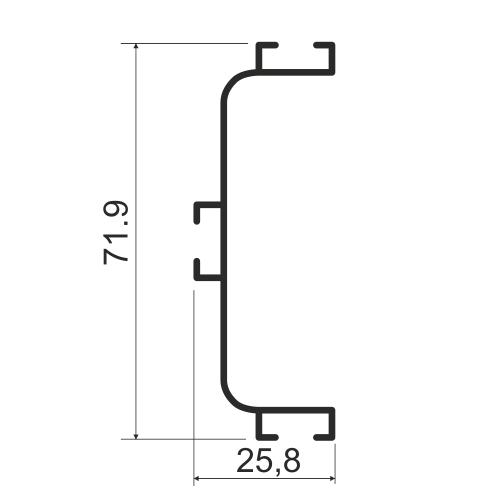 Профиль C-образный, горизонтальный KB 91