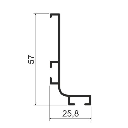 Профиль L-образный, горизонтальный KB 92