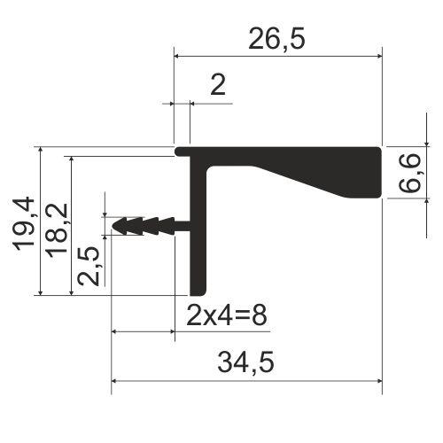 Профиль врезной без подсветки KB 93